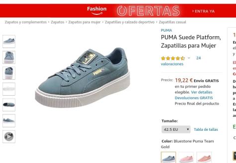 Terminología semiconductor Retorcido  Zapatillas PUMA Suede Platform para Mujer Talla 42.5 por 19,22€