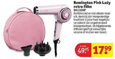 Koop vanaf 15 januari deze Remington D4110OP Pink Lady Retro Dryer - Föhn  voor €17 78d78f9975