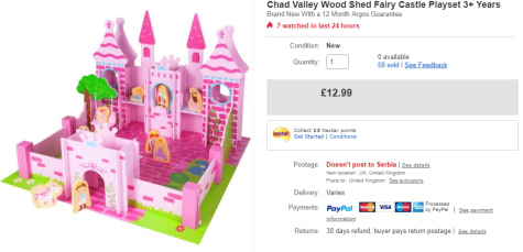 Chad Valley Wooden Fantasy Castle For 1299