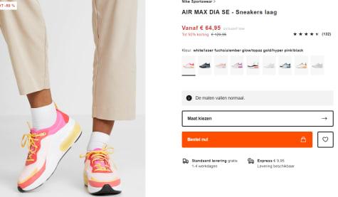 Nike Air Max Dia SE voor €64,95