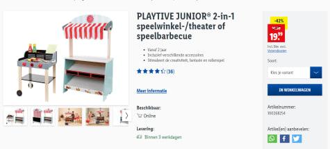 PLAYTIVE JUNIOR® 2 in 1 speelwinkel theater | LIDL