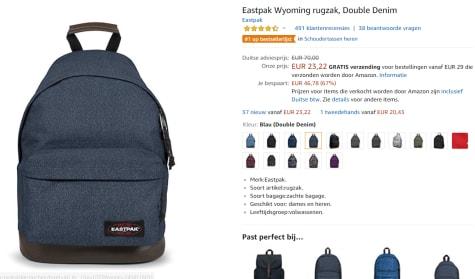 4084d7e75ec Eastpak Wyoming - Rugzak - Double Denim voor €23,22