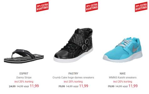 324da055667 Tot 85% korting op geselecteerde schoenen door de 20% extra korting