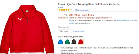 c1a412511ae8 ... dit Puma Liga Core kinder Training Rain Jacket voor slechts €12