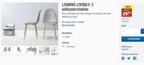 2 LIVARNO LIVING Eetkamerstoelen voor €29,99 bij Lidl shop