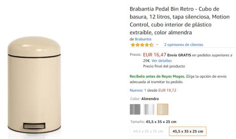 Brabantia Pedaalemmer Retro Bin.Pedaalemmer 12 Liter Retro Bin Voor 23 69