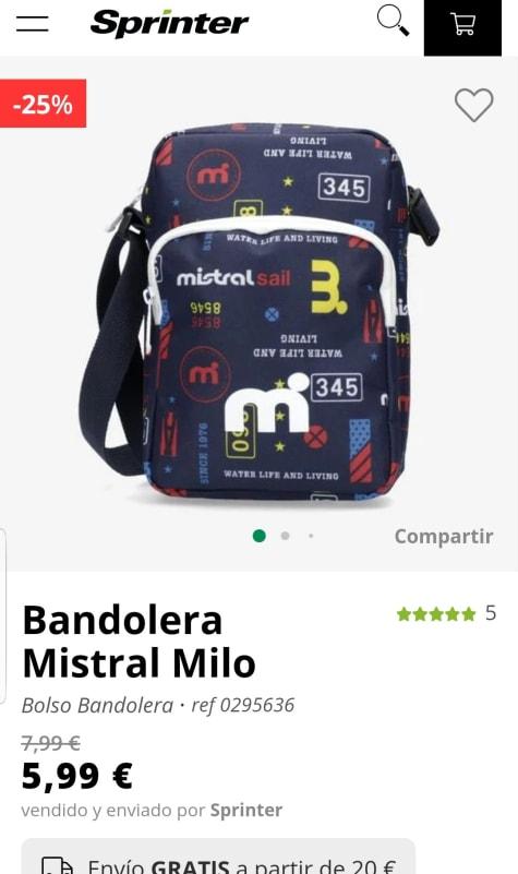 MISTRAL Milo Bandolera por 5,99€.