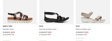 Tot 31% korting op geselecteerde sandalen van Birkenstock