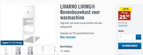 Livarno Living Bovenbouwkast Voor Wasmachine Voor 25