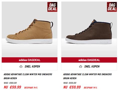 Dagdeal; Adidas Advantage voor heren voor €39,99