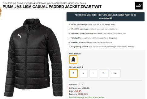 de2aecf21e7e Koop bij Geomix deze Puma Liga Casuals Padded jacket voor maar €49