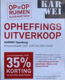 Karwei Ypenburg 35 Korting Op Alles