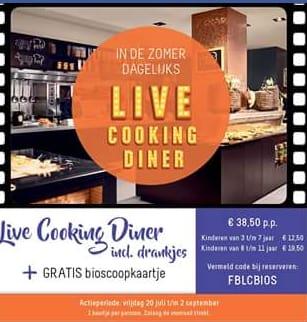 Live Cooking Buffet Van Der Valk Hoorngratis Bioscoopkaartje Voor