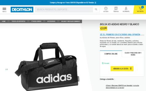 Tableta operador Padre  Bolsa Deportiva XS Adidas por 11,99€