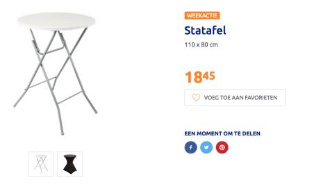 Inklapbare Statafel Ikea.Statafel Voor 18 45