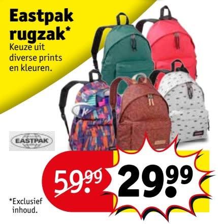 2d1aea57c52 Koop vanaf dinsdag 26 juni, Diverse Eastpak rugzakken voor maar €29,99 bij  Kruidvat.