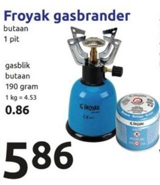 Super Froyak gas brander 1-pits voor €5,86 ES-59