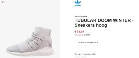 Adidas Tubular Doom winter dames sneakers voor €53,95