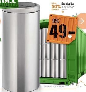 Touch Bin Blokker.Brabantia Touch Bin Flat Top 30 Liter Matt Steel Voor 49