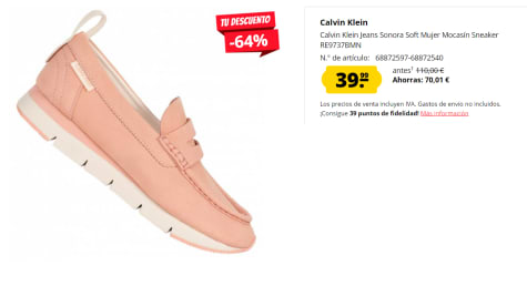 Calvin Klein Jeans Sonora Mocasines Para Mujer Por 39 99 En Deporte Outlet