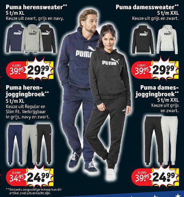 Puma sportkleding vanaf €24,99