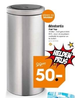 Touch Bin Aanbieding Blokker.Brabantia Touch Bin Flat Top 30 L Voor 50