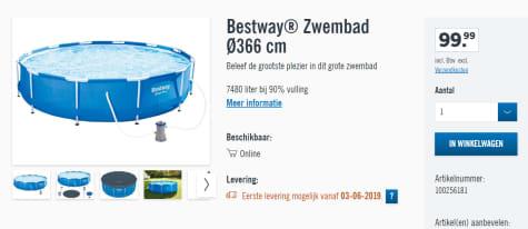 goedkoopste prijs enorme korting fantastische besparingen Bestway Steel Pro Max 366x76cm - Zwembad voor €99,95