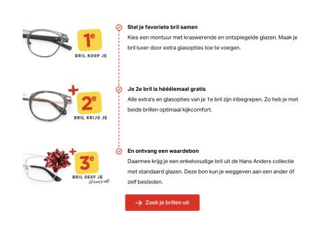 d8ab8f57b00e0e 2e en 3e bril gratis bij Hans Anders 3 brillen op sterkte voor €39