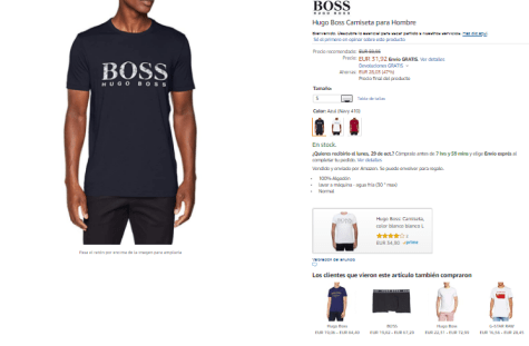 Exclusiva camiseta con diseño exclusivo de Hugo Boss para hombre a tan solo  31 9ebf454640d