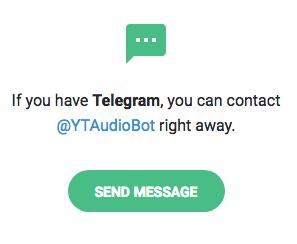 Programa para descargar MP3 de Youtube por Telegram