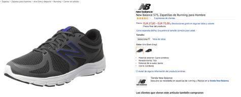 Zapatilas New Balance 575 Hombre por 27,85€ en Amazon