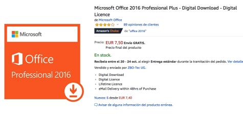 descarga gratis microsoft office 2016