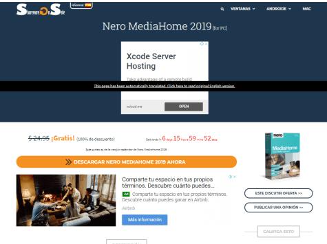 Gratis Nero MediaHome 2019 Centro multimedia en Sharewareonsale