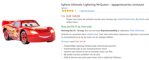 Sphero Ultimate Lightning Mcqueen Race Auto Voor 16999