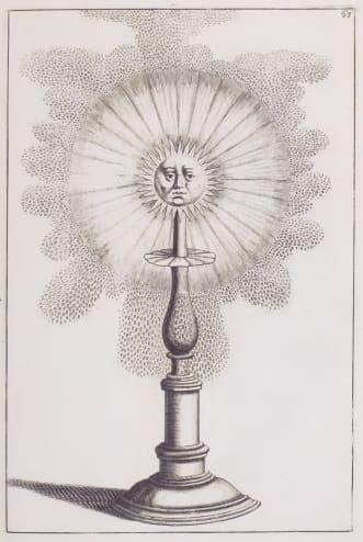 A 'sun' fountain designed by Georg Boeckler