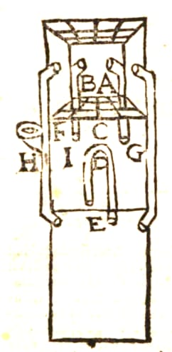 Design for a room air conditioner from Giovanni Battista della Porta's <em>Spiritali </em>of 1601