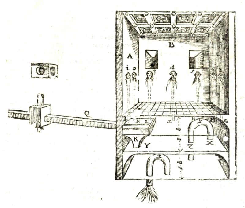 Design by Giovanni Battista Aleòtti for a room air conditioner, 1589
