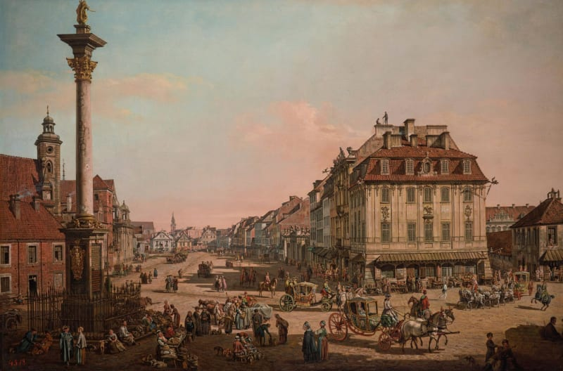 Bernardo Bellotto, Bernhardiner Platz, Warsaw, with John's House