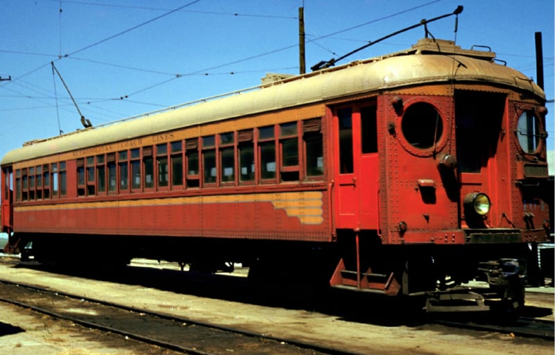 One of the Big Red Cars of the Pacific Electric Railroad