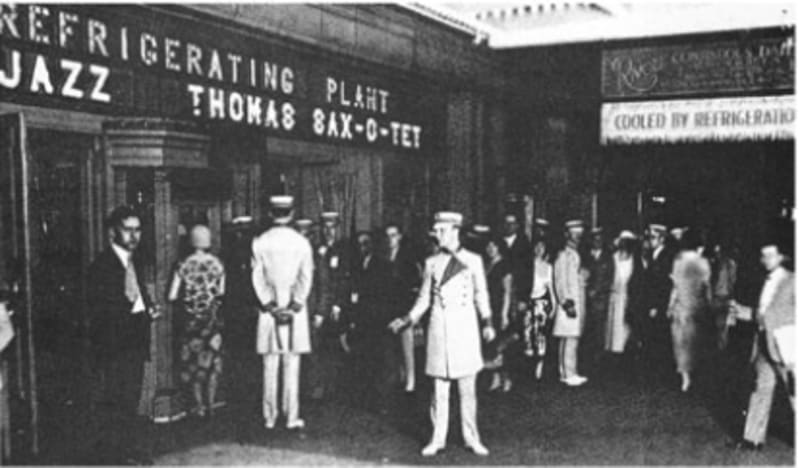 An early air-conditioned movie theatre: the Rivoli, New York City 1926. Photo: ASHRAE Journal, June 1969 p.50
