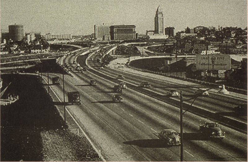 The Hollywood Freeway in the 1950s