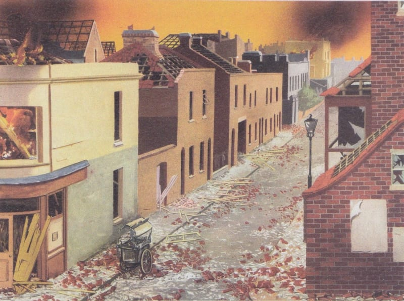A companion Home Office poster showing the effects of a nuclear attack