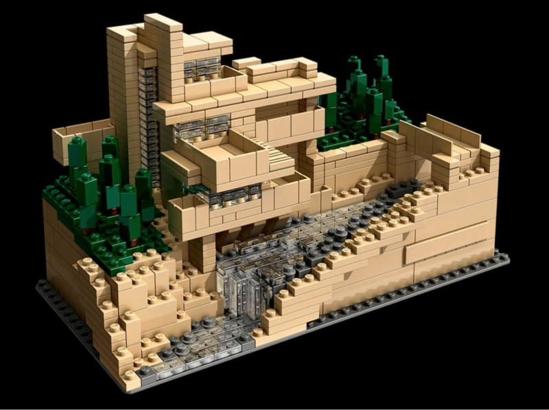 The Lego 'Architecture' kit 21005 for Frank Lloyd Wright's Fallingwater, no longer manufactured