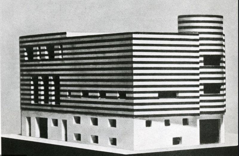 Adolf Loos, model of his villa design, 'A Small Variété for Josephine Baker', 1928