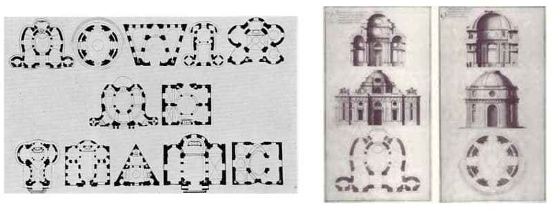Plans by Thomas Gobert making the words 'LOVIS LE GRAND'