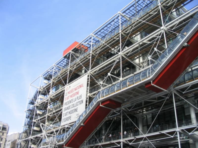 The Pompidou Centre in Paris by Richard Rodgers and Renzo Piano: photo by Leland from Wikipedia