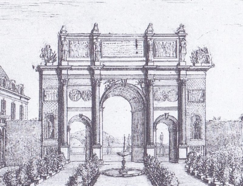 Lemaire's full-size painting of the Arch of Constantine