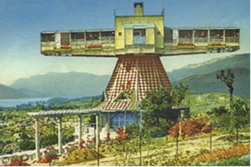 Jean Saidman's revolving solarium at Aix-les-Bains: Ballad-et-vous.fr.