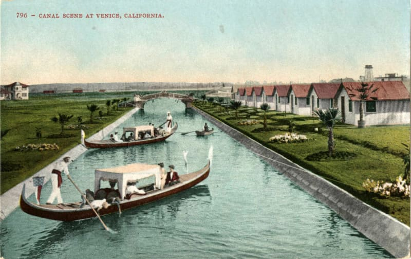 Postcard from Venice Beach, California, 1920s