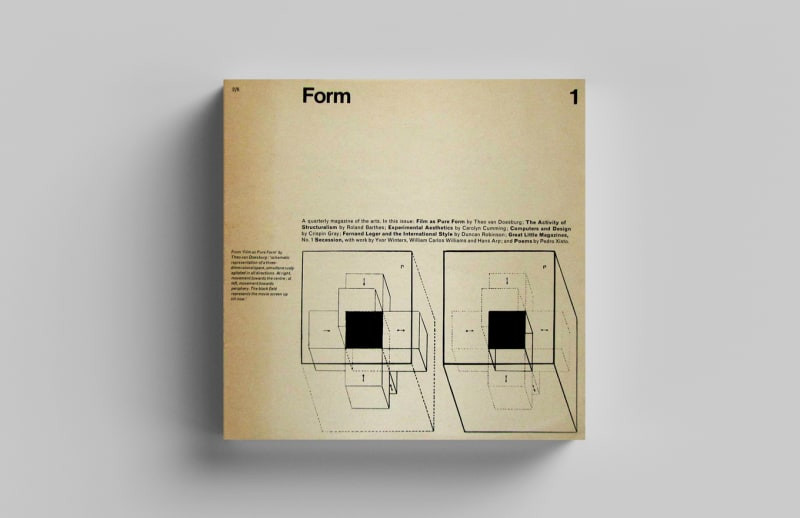 The cover of issue 1 of Form